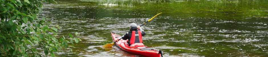 Routes of water trips on River Põltsamaa
